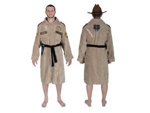 The Walking Dead Sheriff Rick Grimes Cotton Bathrobe