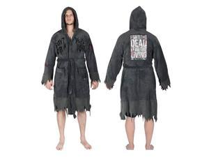 The Walking Dead Do Not Open Hooded Fleece Bathrobe