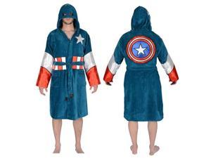 Captain America Hooded Cotton Bathrobe