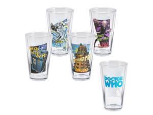 Vandor  Doctor Who 4 pc. 16 oz. Glass Set