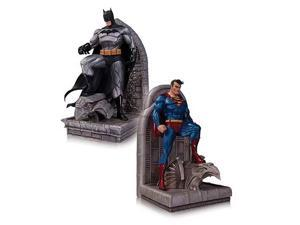 Superman and Batman Bookends Statues
