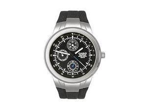 Casio EF305-1AV Men's Multi Dial 3-Hand Analog Edifice Watch w/ Resin Band