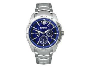 Fossil Multi-Function Blue Dial Stainless Steel Mens Watch BQ9346