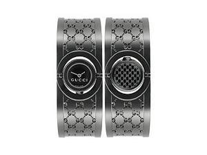 Gucci Twirl Small PVD Stainless Steel Black Dial Women's watch #YA112531