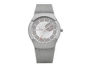 Skagen Swiss Black Label GMT Dual Time Silver Dial Men's watch #983XLSSC