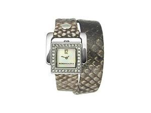 BCBGMAXAZRIA Arabesque Double-wrap Mother-of-pearl Dial Women's watch #BG6271