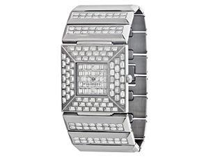 BCBGMAXAZRIA Crystal Collection Prism Silver Dial Women's watch #BG8244