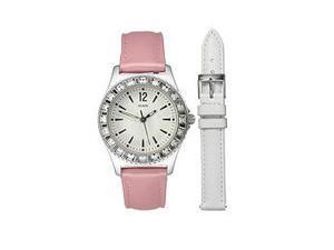 Guess Box Sets Sweet+Diminutive Crystal Silver Dial Women's watch #U95176L1