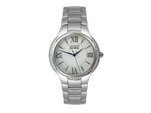 Citizen Eco-Drive Silver-Tone Dial Women's Watch #EM0090-57A