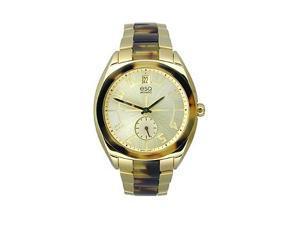 ESQ Origin Stainless Steel and Tortoise Oversize Women's watch #07101426