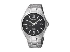 Seiko Solar Three-Hand Stainless Steel Men's watch #SNE215