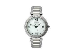 Citizen Eco-Drive Signature Collection White Dial Women's Watch #EO1100-57A