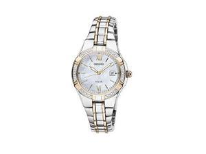 Seiko Solar Two-tone Stainless Steel Womens watch #SUT068