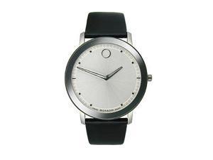 Movado TC Black Leather Strap Men's watch #0606694