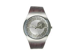 Skagen GMT with Date Leather Strap Men's watch #983XLSLD