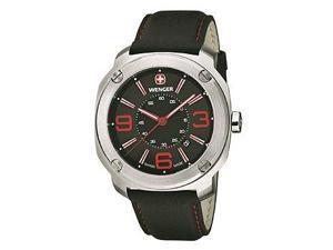 Wenger Escort Three-Hand Leather - Black Men's watch #01.1051.103