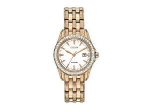 Citizen Eco-Drive Silhouette Three-Hand Stainless Steel - Rose-Gold Women's watch #EW1903-52A