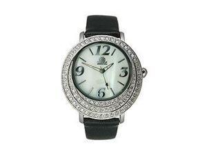 JLO Three-Hand Leather - Black Women's watch #JL/2617WMBK