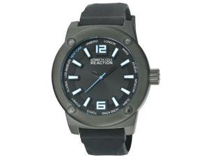 Kenneth Cole Reaction Three-Hand Silicone - Black Men's watch #RK1384