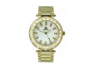 JLO Three-Hand Bracelet - Gold-Tone Women's watch #JL/2712CMGB