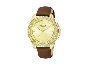 Pulsar Three-Hand Leather - Brown Women's watch #PH8094