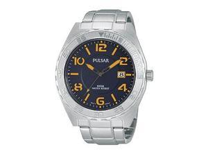 Pulsar On The Go Three-Hand Date Stainless Steel Men's watch #PS9313