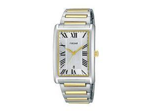 Pulsar Traditional Three-Hand Date Stainless Steel - Two-Tone Men's watch #PH9051