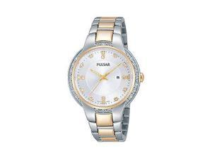 Pulsar Night Out Three-Hand Date Stainless Steel - Two-Tone Womens watch #PJ2012
