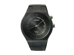 Seiko Kinetic Three-Hand Date Silicone - Black Men's watch #SKA651