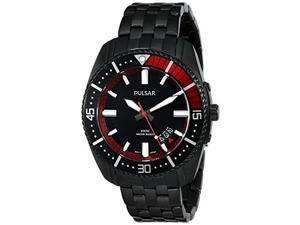 Pulsar PS9321 On The Go Three-Hand Date Stainless Steel Men's Watch - Black