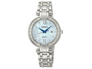 Seiko Diamond Collection White Mother-of-Pearl Dial Women's Watch #SUT181