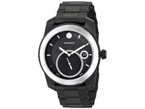 Movado Vizio Black Stainless Steel and Carbon Fiber Bracelet Mens watch #0606614