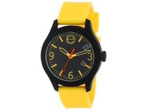 ESQ Movado 07301432 One Black & Yellow Silicone Wrapped Unisex Watch