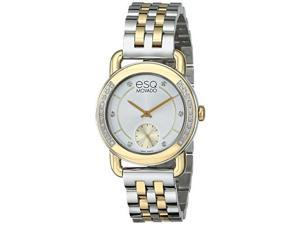ESQ Movado Classica Silver and Yellow Gold Stainless Steel Womens watch #07101463