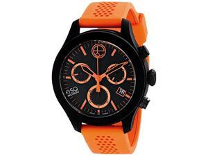 ESQ One 07301460 Movado Chronograph Black & Orange Silicone Unisex Watch