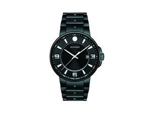 Movado SE Pilot Black Stainless Steel Men's watch #0606809