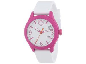 ESQ One White Dial Fuchsia and White Silicone Unisex Watch 07301438