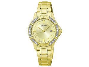 Seiko Three-Hand Date Stainless Steel - Gold-Tone Women's watch #SUR874