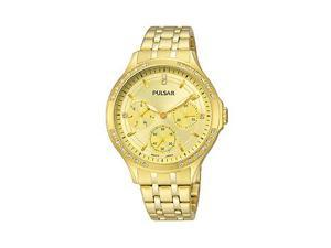Pulsar Multifunction Gold-Tone Stainless Steel Womens watch #PP6190