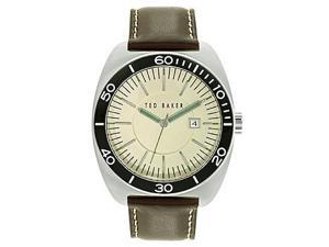 Ted Baker Sport Three-Hand Brown Leather Strap Men's watch #10024734