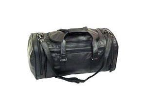Black Leather U Shaped Duffel (#2111-0)
