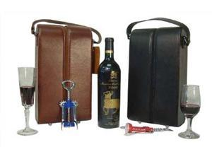 Leather Double Wine Case Holder (#22-02)