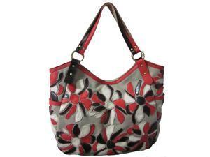 Amerileather Flora Leather Tote Bag (#1755-9)