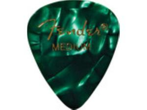 Fender 351 Guitar Picks Premium Celluloid - Green - Medium - 12 Pack