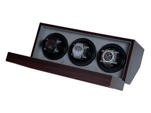 Watch Winder Ebony Wood With Japanese Mabuchi Motor & 4 Different TPD Settings