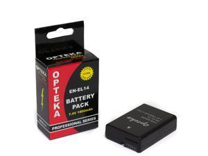 Opteka EN-EL14 1800mAh Ultra High Capacity Li-ion Battery Pack for Nikon Coolpix P7000, P7100, P7700, P7800 & D3100, D3200, D5100, D5200 DSLR Cameras (Fully Decoded Chip)