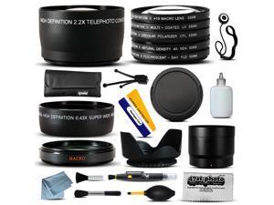 Lenses & Filters Accessories Bundle includes Macro + Telephoto + Lens Cap + Hood + CPL UV FLD Filter Set for Canon EOS 60D 60Da 70D 100D 300D 350D 400D 450D 500D 550D 600D 650D DSLR Digital Camera
