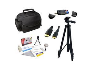 Pro Package Accessory Kit : Lightweight 54'' Tripod + Deluxe Camera Bag + 5Ft Gold Plated HDMI to Mini HDMI Cable + USB Card Reader + EXTRAS for Panasonic HDC-SD80K HDC-TM90K HDC-HS900K HDC-SD40K
