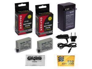 2 Pc (Two) LP-E8 LPE8 Lithium Battery + Charger Kit for Canon Rebel T2i T3i T4i T5i EOS 550D 600D 650D 700D Kiss X4 X5 X6 DSLR Camera