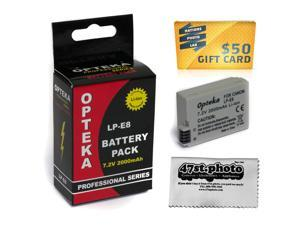 LP-E8 LPE8 Lithium Battery for Canon Rebel T2i T3i T4i T5i EOS 550D 600D 650D 700D Kiss X4 X5 X6 DSLR Camera